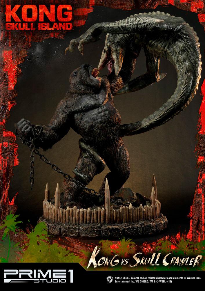 Estatua Kong vs Skull Crawler 80 cm. Kong: La Isla Calavera. Prime 1 Studio