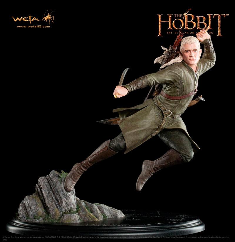 Estatua Legolas Greenleaf 30 cm. El Hobbit: la desolación de Smaug. Escala 1:6. Weta Collectibles