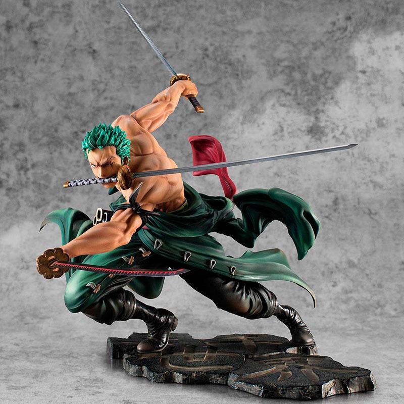 Estatua Roronoa Zoro 21 cm. One Piece. Portrait Of Pirates SA-MAXIMUM. Versión San Zen Se Kai !!!. Megahouse