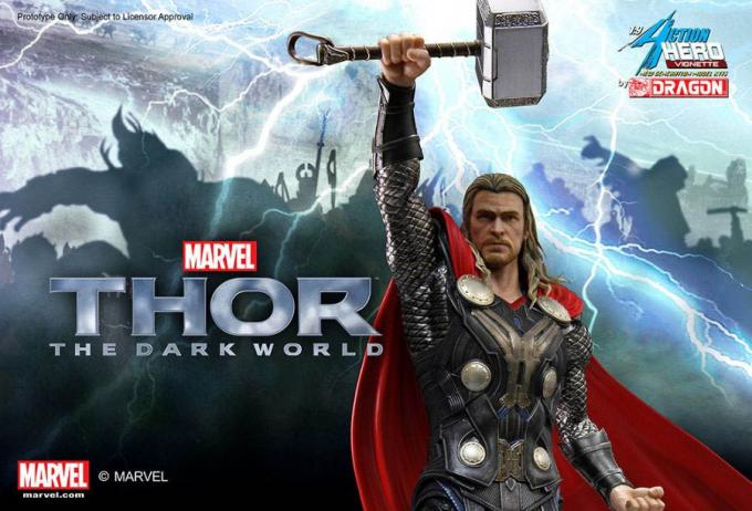 Estatua Thor 23 cm. Action Hero Vignette. Escala 1/9. Thor: el mundo oscuro. Marvel