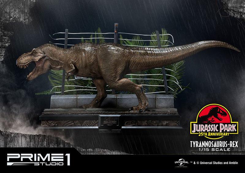 Estatua Tyrannosaurus-Rex 43 cm. Jurassic Park. Escala 1:15. Prime 1 Studio