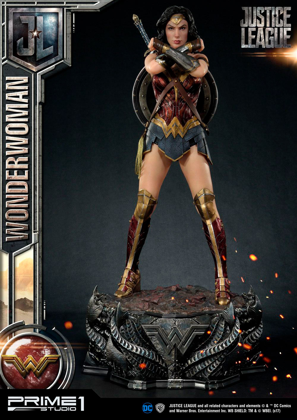 Estatua Wonder Woman 85 cm. La Liga de la Justicia. Con luz. DC Cómics. Prime 1 Studio