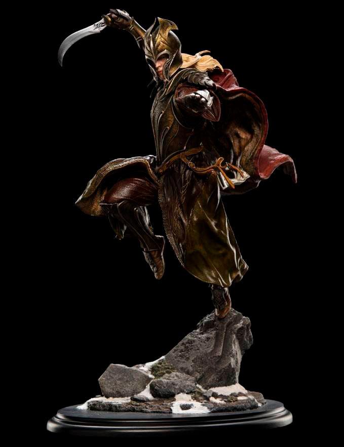Estatua soldado elfo del bosque Mirkwood. El Hobbit: La Batalla de los Cinco Ejércitos. Edición limitada. Escala 1:6. Weta Collectibles