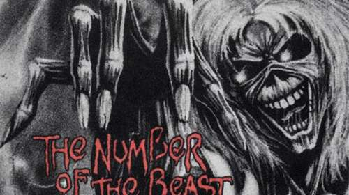 Felpudo Iron Maiden The Number of the Beast