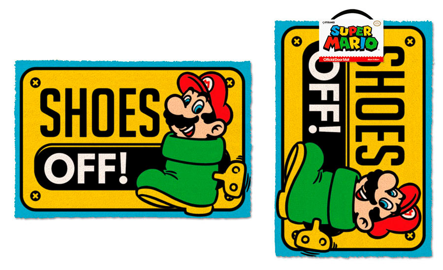Felpudo Shoes Off 40 x 60 cm. Super Mario Bros. Pyramid International