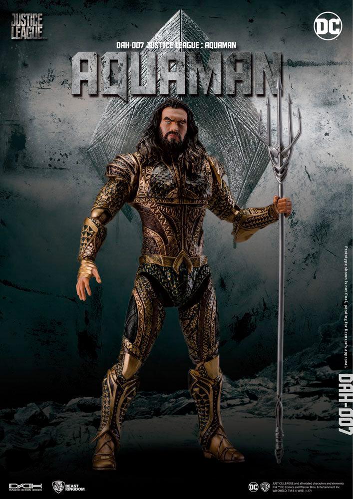 Figura Aquaman 20 cm. La Liga de la Justicia. DC Cómics. Beast Kingdom Toys