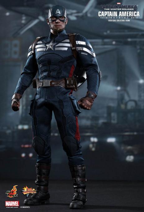 Figura Capitán América 30 cm. Escala 1/6. Capitán América: El Soldado de Invierno. Hot Toys
