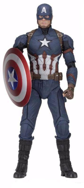 Figura Capitán América 45 cm. Capitán América: La Guerra Civil. Escala 1:4. NECA.