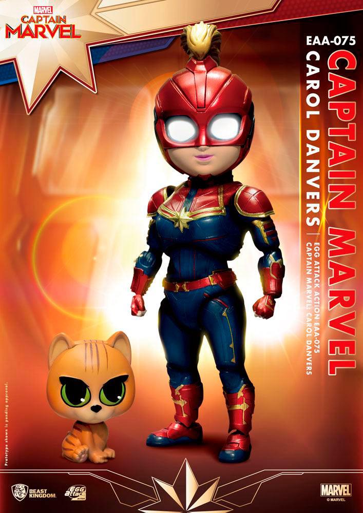 Figura Capitana Marvel 17 cm. Egg Attack. Con luz. Beast Kingdom Toys