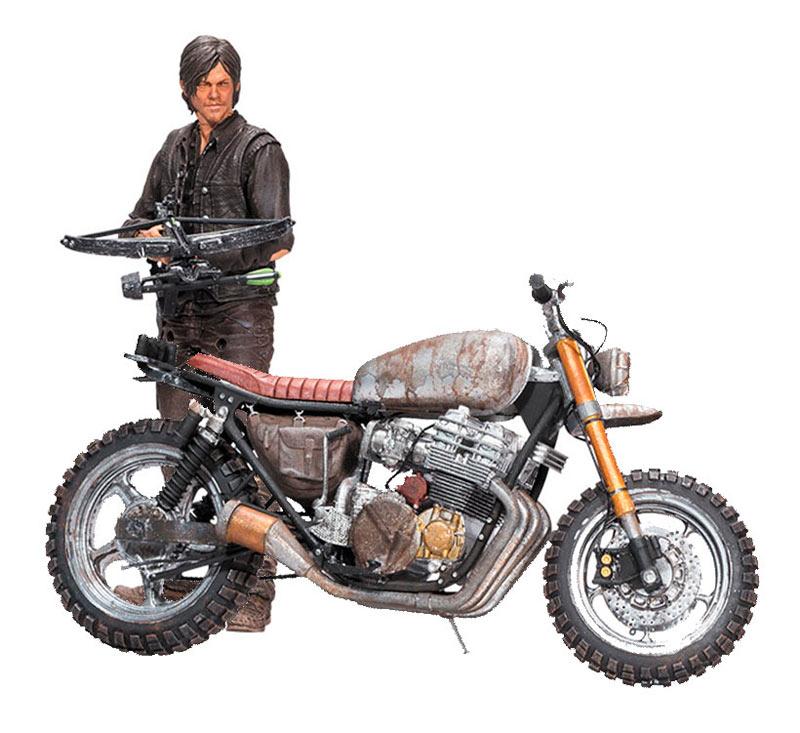 Figura Daryl Dixon & moto 18 cm. The Walking Dead. McFarlane Toys