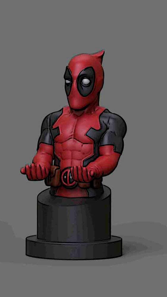 Figura Deadpool 20 cm. Soporte móviles y mandos videoconsolas