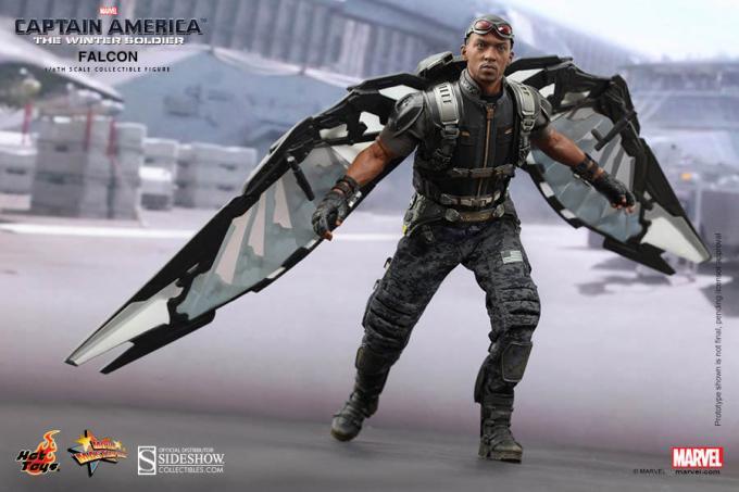 Figura Falcon 30 cm. Escala 1/6. Capitán América: El Soldado de Invierno. Hot Toys