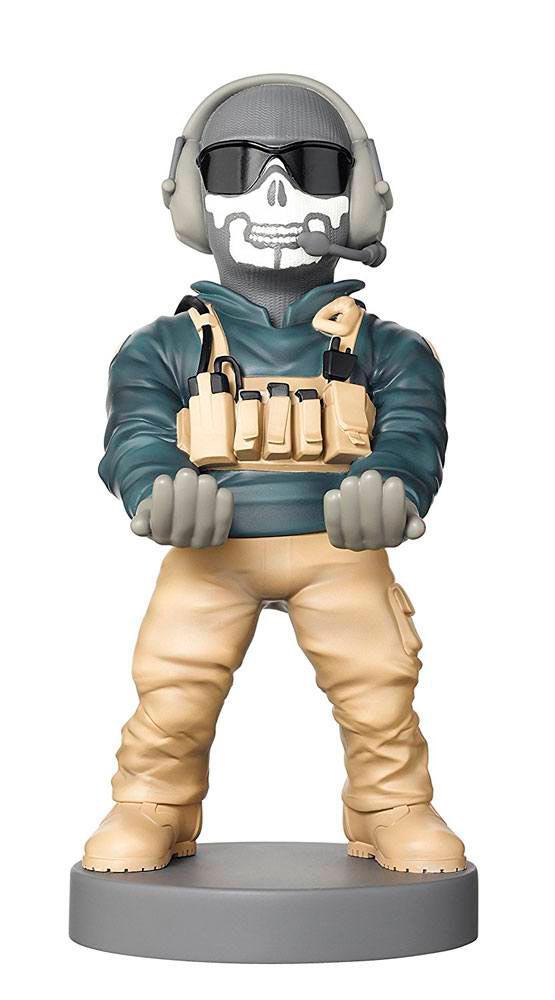 Figura Ghost 20 cm. Soporte móviles y mandos videoconsolas. Call of Duty