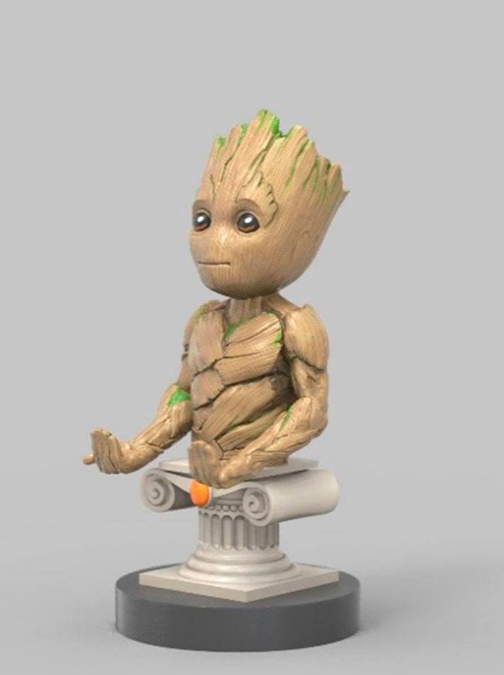 Figura Groot 20 cm. Soporte móviles y mandos videoconsolas. Vengadores: Infinity War
