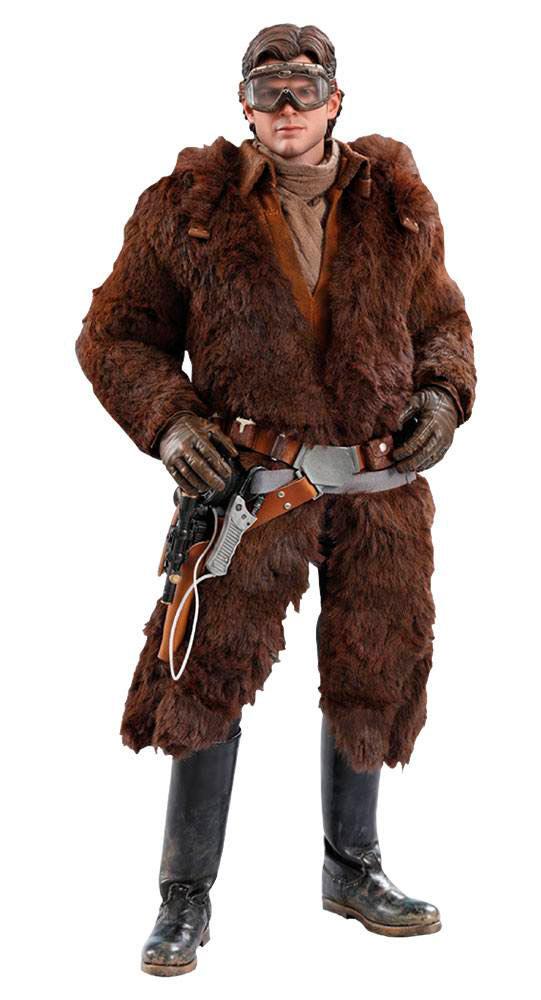 Figura Han Solo 31 cm. Han Solo: Una Historia de Star Wars. Version Deluxe. Movie Masterpiece. Escala 1:6. Hot Toys