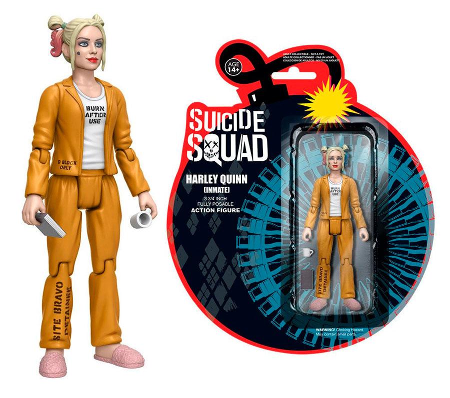 Figura Harley Quinn 12 cm. Escuadrón Suicida. Versión presidiaria. Funko