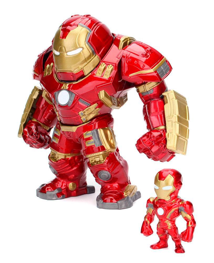 Figura Hulkbuster & Iron Man 15 y 6 cm. Los Vengadores: la era de Ultrón. Metals Die Cast. Jada Toys