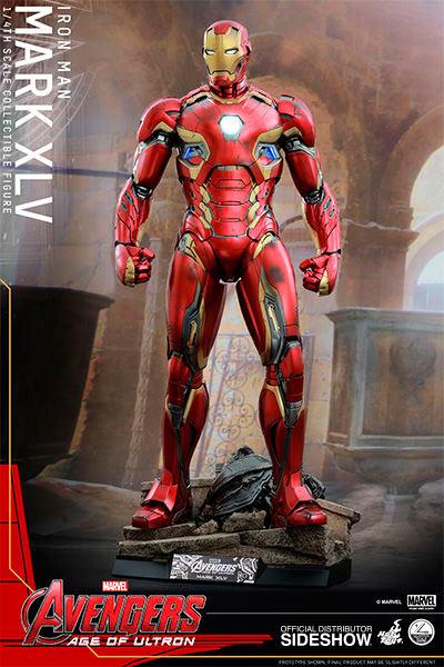 Figura Iron Man Mark XLV 51 cm. Los Vengadores: la era de Ultrón. Con luz. Línea Quarter Scale Series. Escala 1:4. Hot Toys