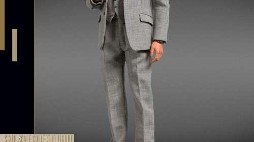 Figura James Bond traje gris 30 cm. James Bond contra Goldfinger. Escala 1:6. BIG Chief Studios