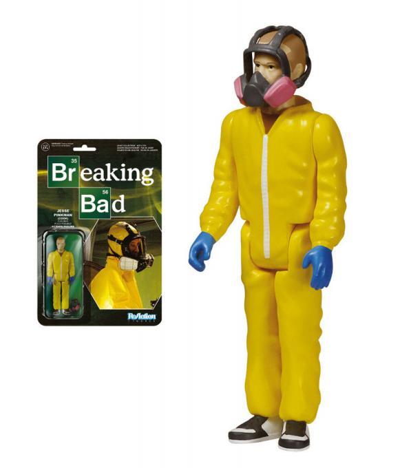 Figura Jesse Pinkman 10 cm. Breaking Bad. Versión traje protector. Línea ReAction. Funko