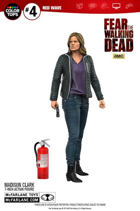 Figura Madison Clark 18 cm. The Walking Dead. Línea Color Tops. McFarlane Toys