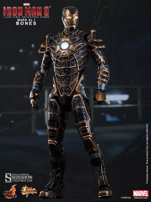 Figura Mark XLI Bones 30 cm. Movie Masterpiece. Iron Man 3. Hot Toys