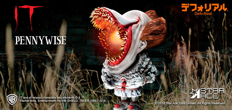 Figura Pennywise 15 cm. It (Eso) 2017. Con luz. Scary Version. Defo-Real Series. Stephen King. Star Ace Toys