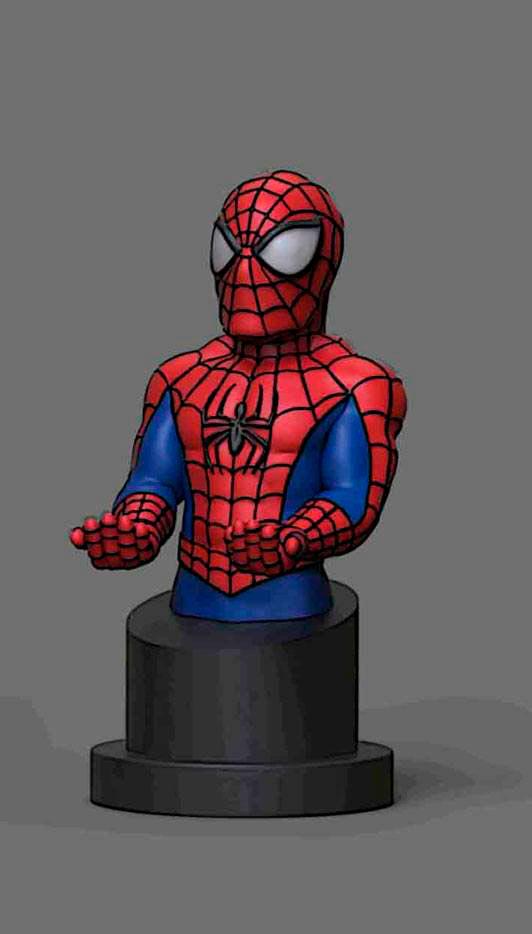 Figura Spiderman 20 cm. Soporte móviles y mandos videoconsolas