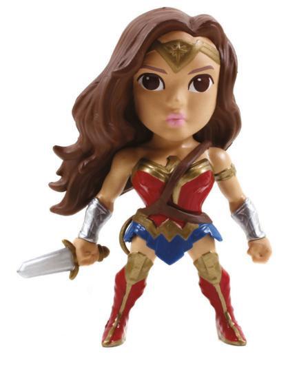 Figura Wonder Woman 10 cm. Batman v Superman: el Amanecer de la Justicia. Versión alternativa. Línea Metals Diecast. Jada Toys