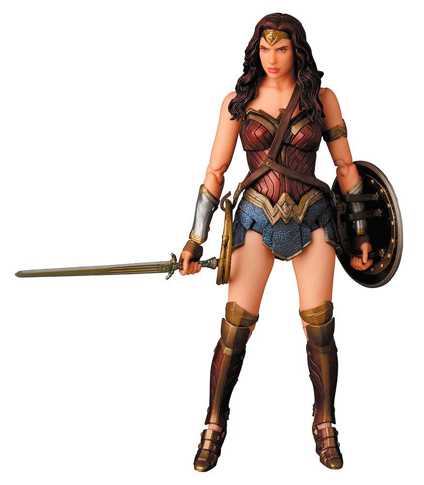 Figura Wonder Woman 15 cm. Batman v Superman: el Amanecer de la Justicia. Línea MAFEX. Medicom