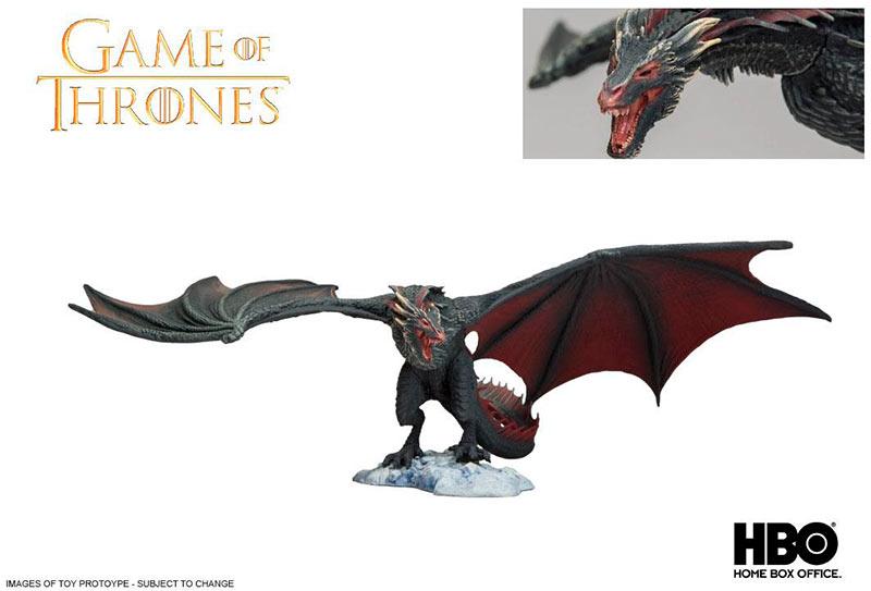 Figura dragón Drogon 15 cm. Juego de Tronos. McFarlane Toys