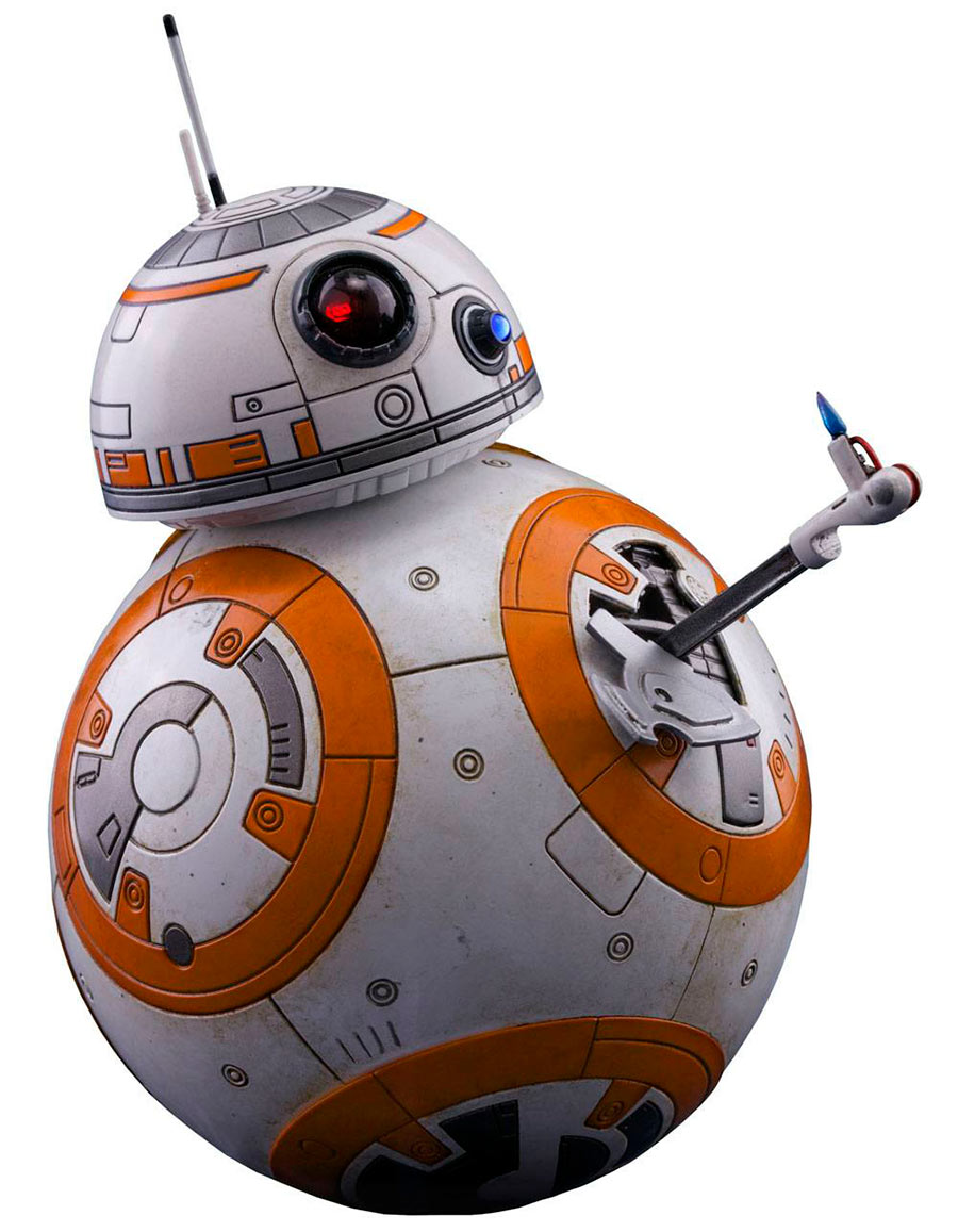 Figura droide BB-8 de 11 cm. Star Wars: The Last Jedi. Con luz. Hot Toys