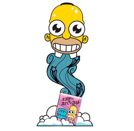 Figura mascota Mr. Sparkle 18 cm. Los Simpson. Kidrobot