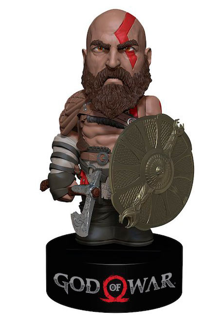 Figura movible Kratos 16 cm. God of War (2018). Línea Body Knocker. NECA