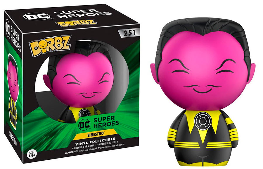 Funko Dorbz Thaal Sinestro 8 cm. Linterna Verde. Línea Sugar DC Comics