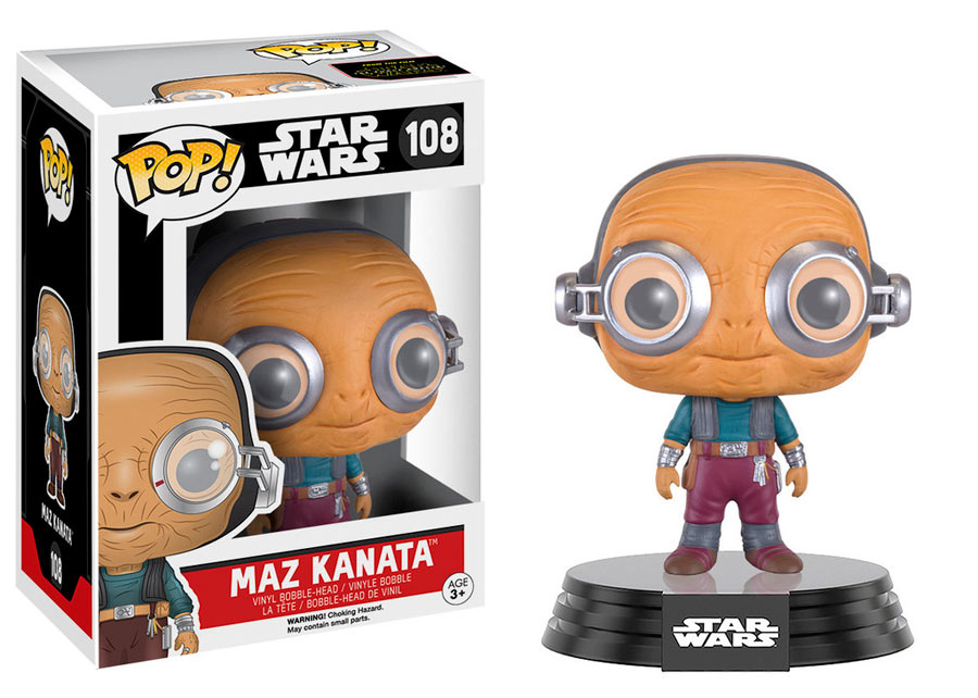 Funko POP Maz Kanata 9 cm. Star Wars. POP! Movies