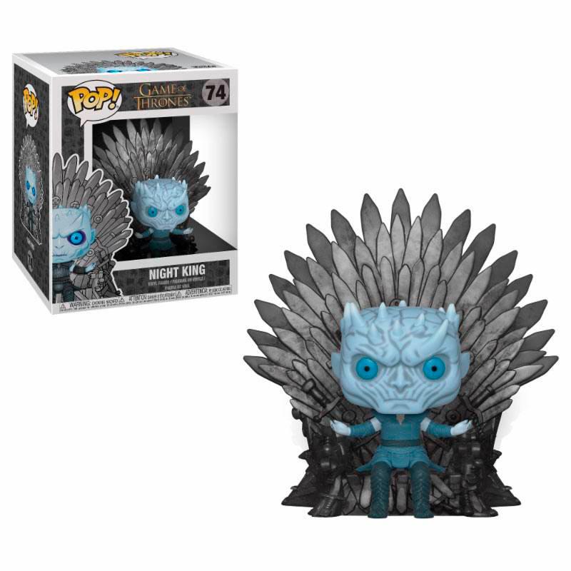 Funko POP Night King Sitting on Iron Throne 15 cm. Juego de Tronos
