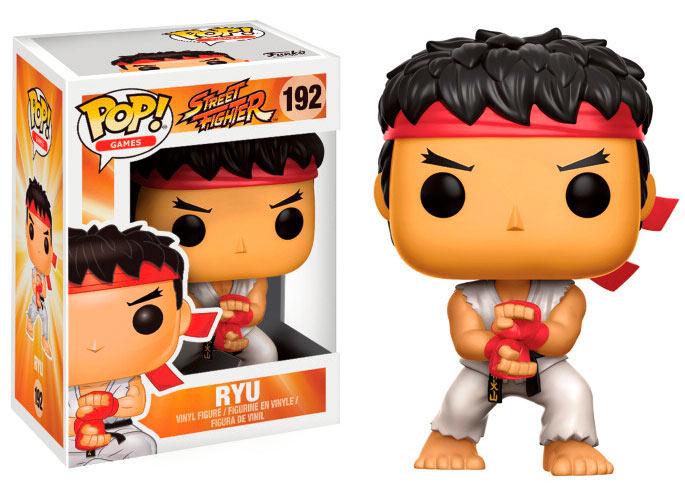 Funko POP Ryu (Special Attack) 9 cm. Street Fighter. Versión White Headband