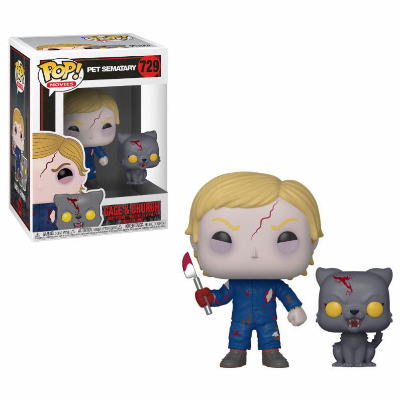 Funko POP Undead Gage & Church 9 cm. Cementerio de mascotas