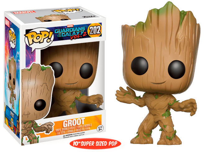 Funko POP Young Groot 25 cm. Guardianes de la Galaxia 2. Marvel. Super Sized