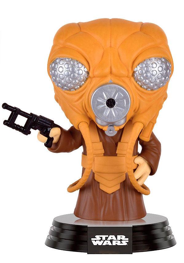 Funko POP caza recompensas Zuckuss 9 cm. Star Wars. Edición limitada