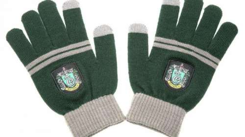Guantes casa Slytherin. Harry Potter