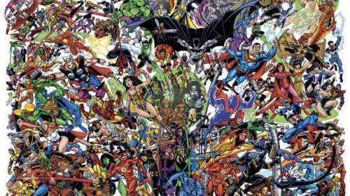 Ilustración personajes Marvel Vs Dc