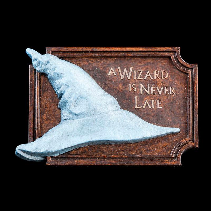Imán A Wizard Is Never Late. El Señor de los Anillos. Weta Collectibles