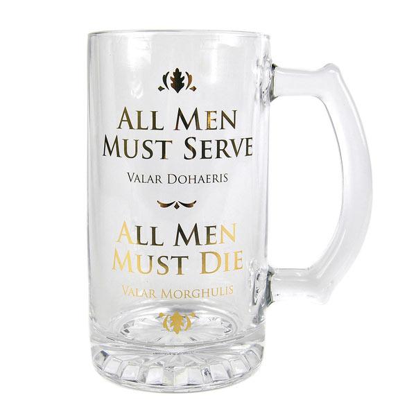 Jarra de cerveza Juego de Tronos. All Men Must Serve