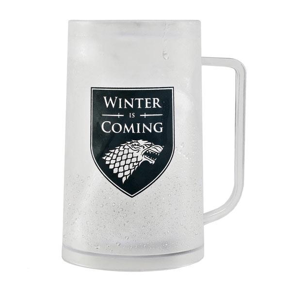 Jarra de cerveza Stark Winter is Coming. Juego de Tronos