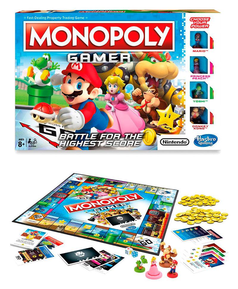 Juego de Mesa Monopoly Gamer Mario Edition. Nintendo. Edición en inglés. Hasbro