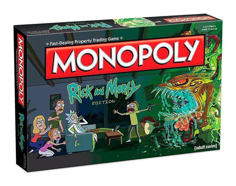Juego de Mesa Rick y Morty Monopoly. Versión en inglés
