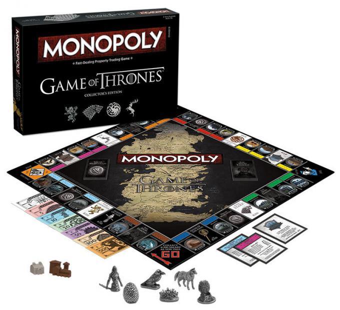 Juego de mesa Monopoly. Juego de Tronos. Versión en inglés