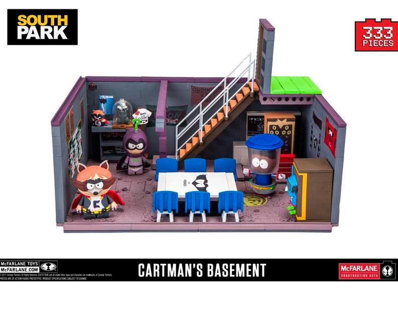 Kit de Construcción South Park Deluxe. Cartman's Basement. McFarlane Toys